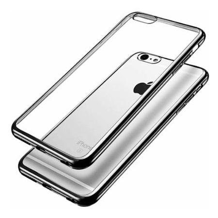 iPhone 6 silikonowe etui platynowane SLIM kolor (Gunmetal) - czarny.