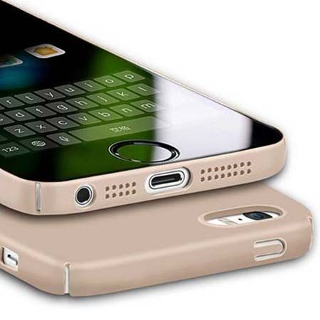 Etui na telefon iPhone SE Slim MattE - złoty.