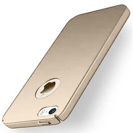Matowe Etui na telefon iPhone 5 / 5s - Slim MattE - Złoty.