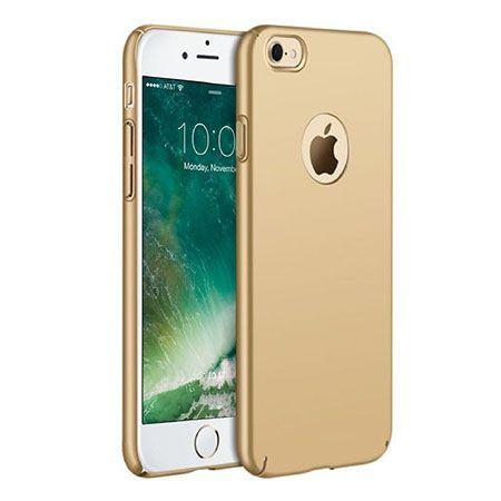 Matowe Etui na telefon iPhone 7 - SLim MattE - Złoty.