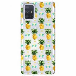 Etui na Samsung Galaxy A51 - Ananasowe szaleństwo.