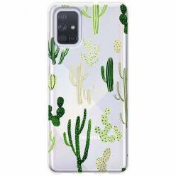 Etui na Samsung Galaxy A51 - Kaktusowy ogród.