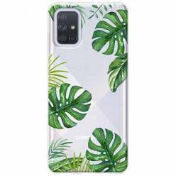 Etui na Samsung Galaxy A51 - Zielone liście palmowca