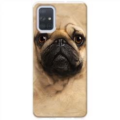 Etui na Samsung Galaxy A51 - Pies Szczeniak face 3d