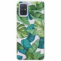 Etui na Samsung Galaxy A71 - Egzotyczne liście
