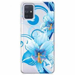 Etui na Samsung Galaxy A71 - Niebieski kwiat północy.