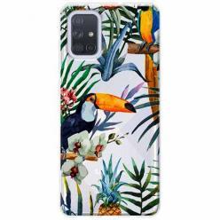 Etui na Samsung Galaxy A71 - Egzotyczne tukany.