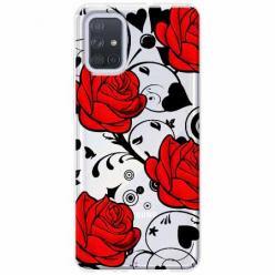 Etui na Samsung Galaxy A71 - Czerwone róże.