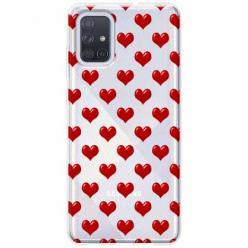 Etui na Samsung Galaxy A71 - Czerwone serduszka.