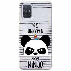 Etui na Samsung Galaxy A71 - Ninja Unicorn - Jednorożec.