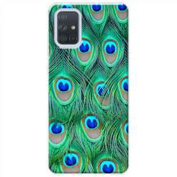 Etui na Samsung Galaxy A71 - Pawie Pióra