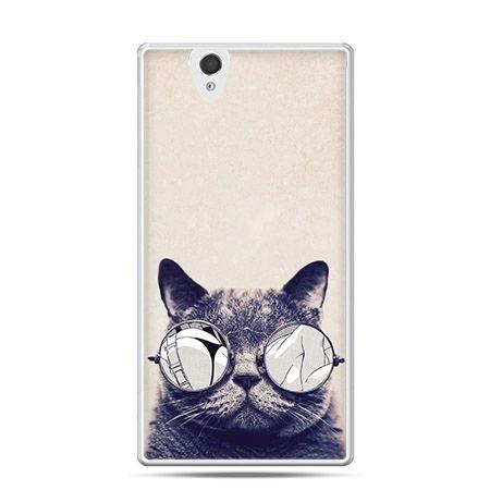 Etui na Sony Xperia Z kot w okularach