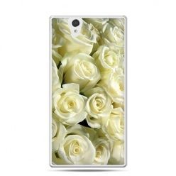 Etui na Sony Xperia Z białe róże