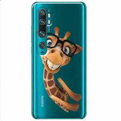 Etui na Xiaomi Mi Note 10 Pro - Żyrafa w okularach.