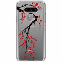 Etui na LG K50s - Krzew kwitnącej wiśni.