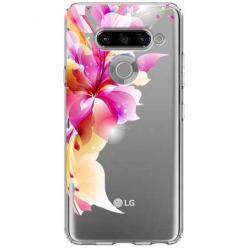 Etui na LG K50s - Bajeczny kwiat.