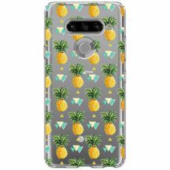 Etui na LG K50s - Ananasowe szaleństwo.