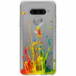 Etui na LG K50s - Kolorowy splash.