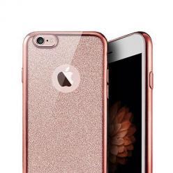 iPhone 6 / 6s  etui Brokat silikonowe platynowane SLIM tpu różowe.