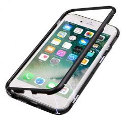 Etui Magnetyczne metalowe Magneto na iPhone SE 2020 - Czarny