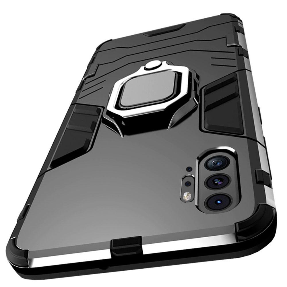 Etui na Huawei P30 Pro - Pancerne Magnet Ring - Czarny.
