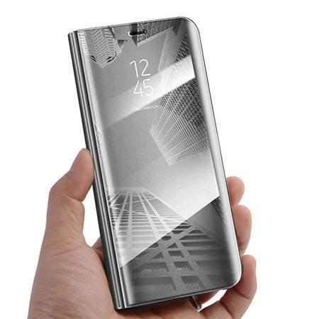 Etui na Samsung Galaxy A50 - Flip Clear View z klapką - Srebrny