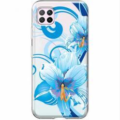 Etui na Huawei P40 Lite - Niebieski kwiat północy.
