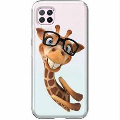 Etui na Huawei P40 Lite - Żyrafa w okularach.