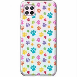 Etui na Huawei P40 Lite - Kolorowe psie łapki.