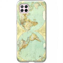 Etui na Huawei P40 Lite - Mapa świata