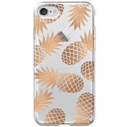 Etui na iPhone SE 2020 - Złote ananasy.