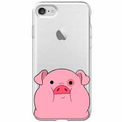 Etui na iPhone SE 2020 - Słodka różowa świnka.