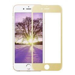 iPhone 8 Hartowane szkło na cały ekran 3d - Złoty.