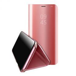 Etui na Xiaomi Redmi Note 9s Flip Clear View z klapką - Różowy.
