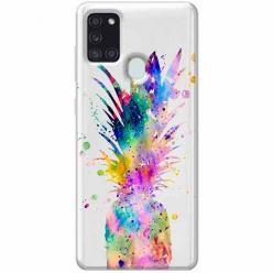 Etui na Samsung Galaxy A21s - Watercolor ananasowa eksplozja.