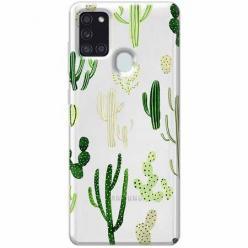 Etui na Samsung Galaxy A21s - Kaktusowy ogród.