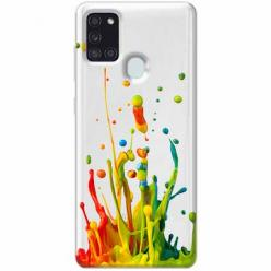 Etui na Samsung Galaxy A21s - Kolorowy splash.