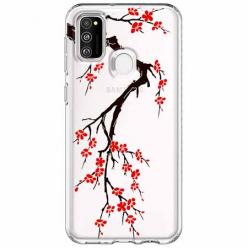Etui na Samsung Galaxy M21 - Krzew kwitnącej wiśni.