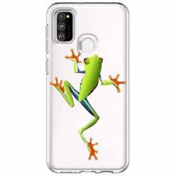Etui na Samsung Galaxy M21 - Zielona żabka.