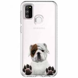Etui na Samsung Galaxy M21 - Słodki szczeniaczek.