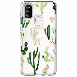 Etui na Samsung Galaxy M21 - Kaktusowy ogród.