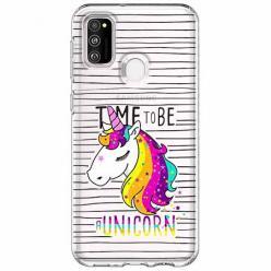 Etui na Samsung Galaxy M21 - Time to be unicorn - Jednorożec.