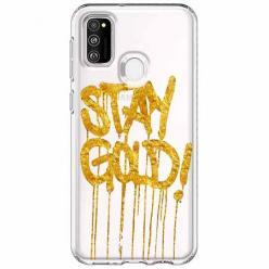 Etui na Samsung Galaxy M21 - Stay Gold.