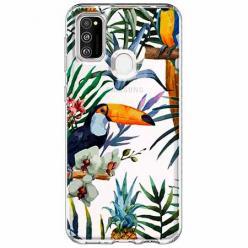 Etui na Samsung Galaxy M21 - Egzotyczne tukany.
