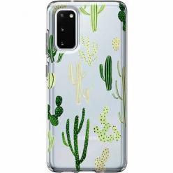 Etui na Samsung Galaxy S20 - Kaktusowy ogród.