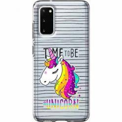 Etui na Samsung Galaxy S20 - Time to be unicorn - Jednorożec.