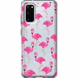 Etui na Samsung Galaxy S20 - Różowe flamingi.