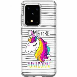 Etui na Samsung Galaxy S20 Ultra - Time to be unicorn - Jednorożec.