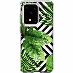 Etui na Samsung Galaxy S20 Ultra -  Egzotyczne liście bananowca.