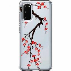 Etui na Samsung Galaxy S20 Plus - Krzew kwitnącej wiśni.